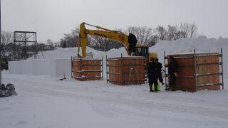 雪像製作の日程変更